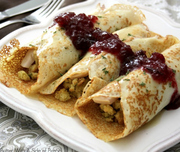 Turkey & Stuffing Crepes