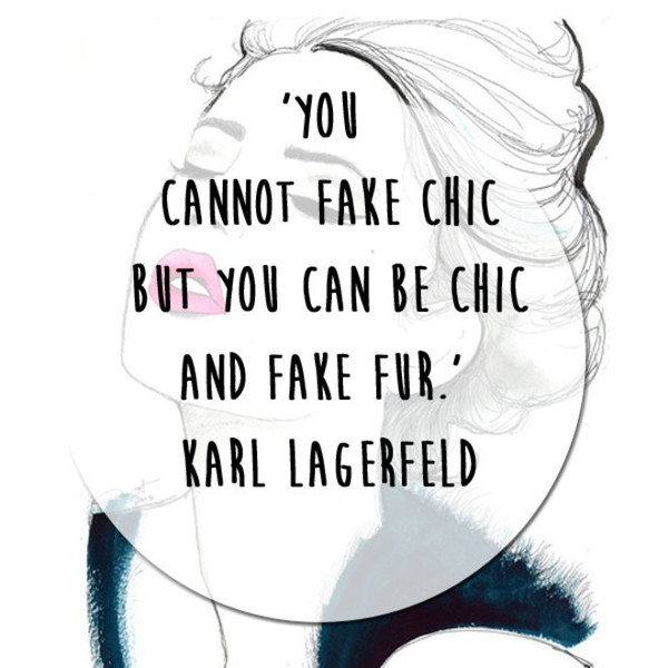 Karl Lagerfeld 'Fake Fur' Quote