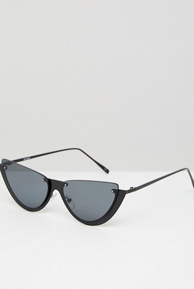 Sliced Top Extreme Cat Eye Sunglasses