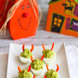 Avocado Sriracha Deviled Eggs