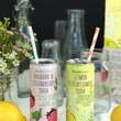 Rhubarb & Strawberry and Lemon Elderflower Sodas